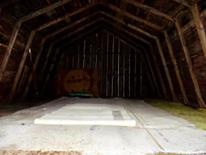 Upper level of the barn (access with ladder on outside)