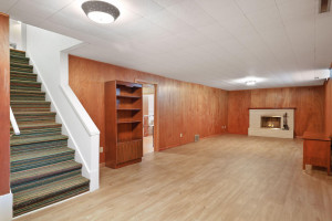Lower level with brand new luxury vinyl flooring.