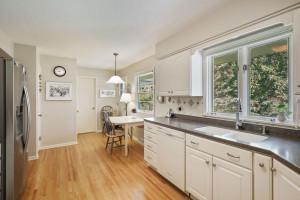 Two windows create a light & bright kitchen.