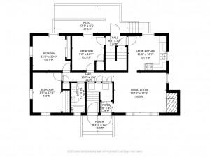 Main level, handicap accessible 3 bed 1 bath, single level living.