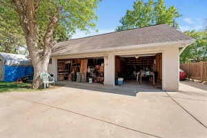 3 stall garage plus storage up and to the left.