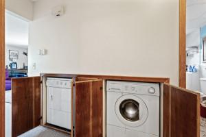 Ground level laundry, handicap accessible
