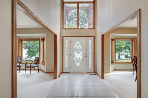 Large two-story foyer welcomes you to the home.