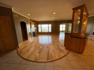 FROM ENTRANCE TO MAIN FLOOR LIVING WITH KITCHEN ON RIGHT