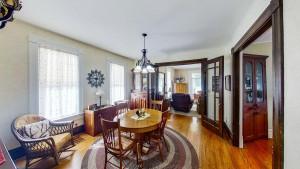 Dining Room Showcases Beautiful Wood Floors