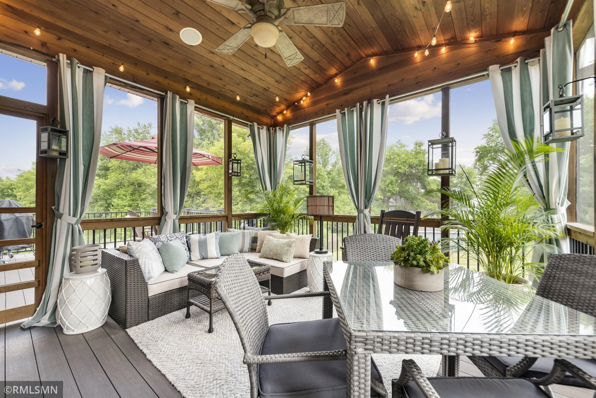 """This screened sunporch will become your """"go to"""" place for times when you want to relax and soak up nature!"""