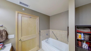 Owner's En-Suite with Separate Tub & Shower and tile surround