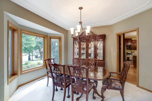 The formal dining room with a bay picture window and plenty of space to expand your table for family and friends. All windows throughout the 1st and 2nd floor are Renewal by Anderson.