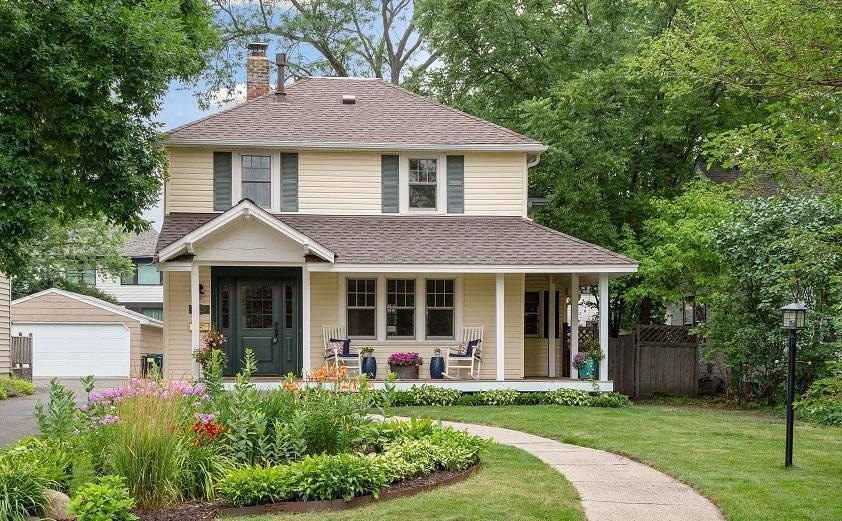 Renovated modern farmhouse in desirable Edina neighborhood provides today's open layout and beautiful finishes with elegant curb appeal.