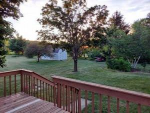 Backyard has 2 apple trees and 1 pear tree