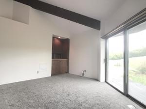 Family Room, Vaulted Ceiling, Sliding Glass Doors