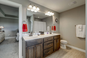 I love the double vanity in the owner's bathroom.