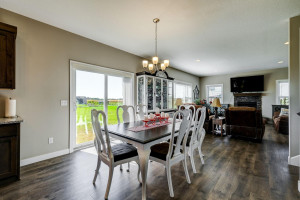 Dining room can spread out as large as you wish it to!