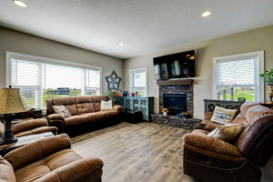 Former model home. Check out the fireplace!