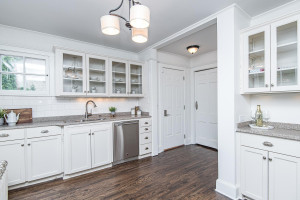 Beautiful cabinetry with quartz tops and hardwood flooring!