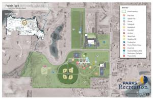 Otsego city Prairie Park has something for everyone - dog park, playground, sports courts, splash pad and archery range.