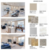 Selections for the home include: White cabinets throughout, fantasy brown granite counters with honeytone oak flooring. Kitchen will be the signature kitchen layout with gas cooktop and double wall oven.