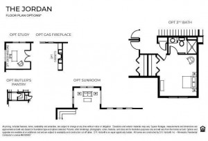Options included in the home at 12292 62nd St NE: Gas fireplace and Butler's pantry.