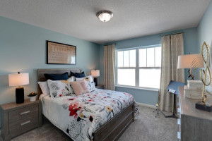 Each of the home's secondary bedrooms on the upper level come perfectly sized and all feature their own private walk-in closet. *pictures are of model home, actual colors may vary.