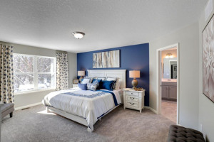 The primary suite offers a true oasis. *pictures are of model home, actual colors may vary.