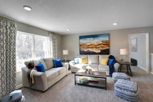 Relax, play and enjoy! This upper level game room provides an additional 270 square feet of living space and is conveniently located adjacent to all four of the upper level bedrooms. *pictures are of model home, actual colors may vary.