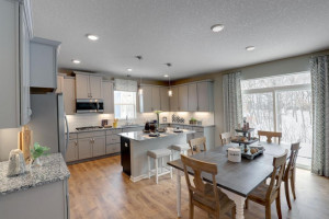 Thoughtfully-designed with a combination of functionality and modern design, this kitchen space is sure to impress. *pictures are of model home, actual colors may vary.