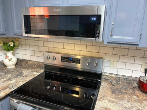 ...and All New Stainless Steel Whirlpool Appliances, Like This Convection Oven (July 2021)...