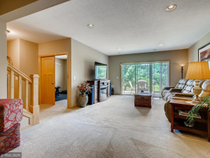 The walkout lower level leads to 18? patio and is ideal for entertaining.