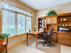 The main floor office with belted glass doors is sure to please.