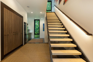 Guest house includes washer/dryer, kitchen, and limestone stairway with much more on second level.