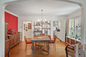 The dining space is large enough for a full dining table and storage! 1484 Summit Avenue, St. Paul, MN.
