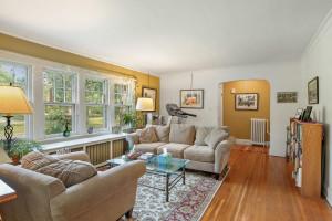 The main floor unit has hardwood floors throughout. 1484 Summit Avenue, St. Paul, MN.