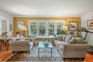 Like the upstairs unit, the main floor gets tons of natural light through its many windows. 1484 Summit Avenue, St. Paul, MN.