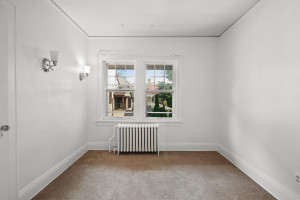 The radiators under the windows are perfect for heating in the winter. 1484 Summit Avenue, St. Paul, MN.