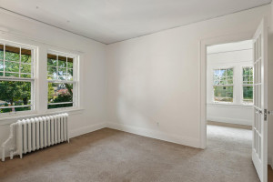 All three bedrooms in the upstairs unit are carpeted. 1484 Summit Avenue, St. Paul, MN.