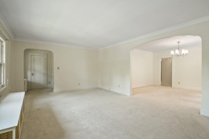 This is a very spacious main living area! 1484 Summit Avenue, St. Paul, MN.