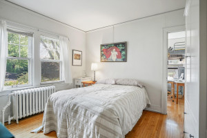 This is the third and final bedroom in this unit. 1484 Summit Avenue, St. Paul, MN.