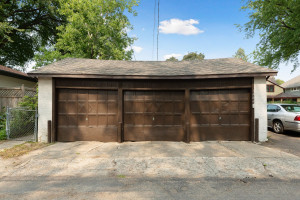 There is a three private garage stalls and room for more off the street parking. 1484 Summit Avenue, St. Paul, MN.