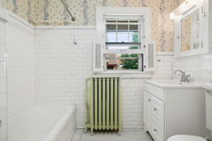The second bathroom in the upstairs unit. 1484 Summit Avenue, St. Paul, MN.