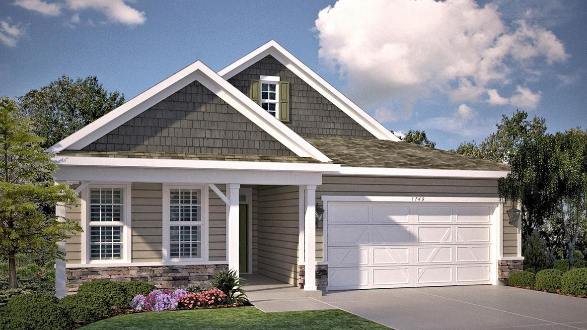 Heartland Cottage rendering of the Bristol floorplan. Color will be all aged pewter.