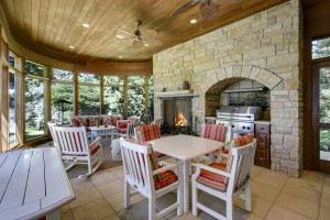 perfect space for entertaining with patio, kitchen and living room all connected
