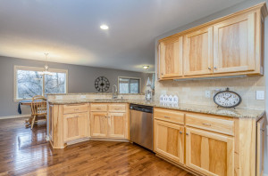 Open Kitchen overlooks separate dinning area and living room.