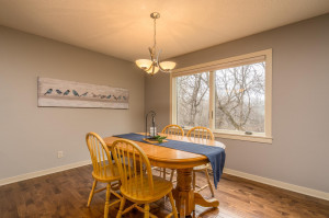 Separate formal dining room tucked into the sun-filled open floor plan. Enjoy meals overlooking 18 acre Creekview Park.