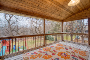 Covered deck, inground sprinklers and Kentucky Blue Grass Lawn!