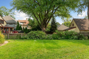 Beautiful large lot of 60' x 200' provides a spacious backyard. 1484 Summit Avenue, St. Paul, MN.