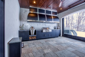 This lower level outdoor kitchen/cabana is one of the things that make this home truly unique!