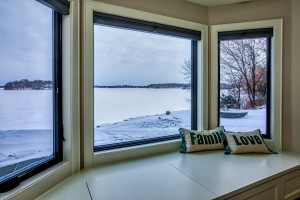 Fabulous lake views from the lower level bedroom