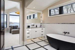 Another view of the sitting room and the owner's bath ensuite
