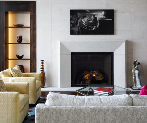 Custom fireplace and built ins in the Great Room