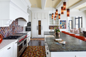 Another view of the kitchen and the high end appliances